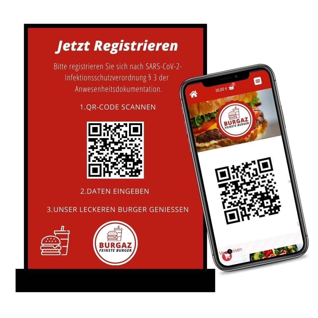 QR Code Gästeregistrierung Corona web4gastro